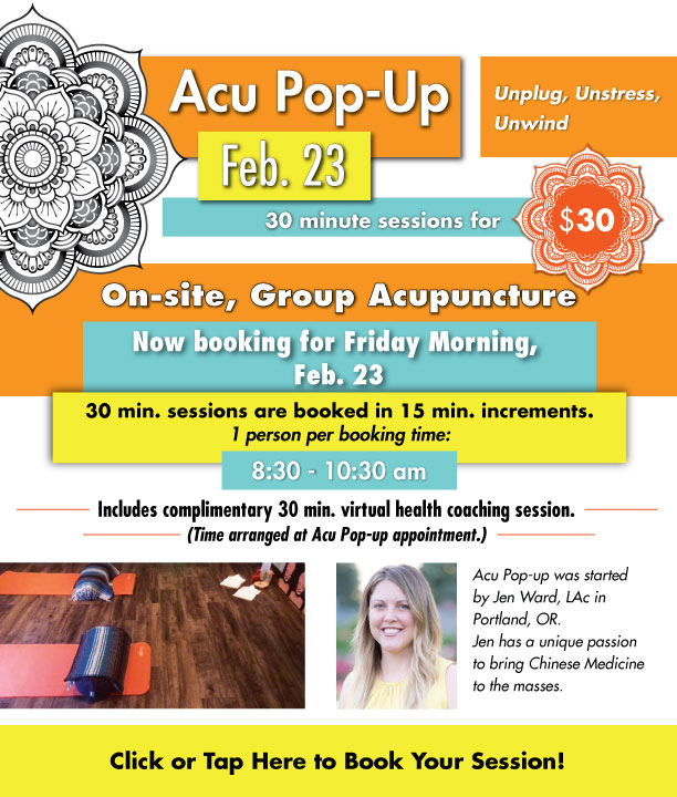 Acu Pop-Up: Book Your Session!