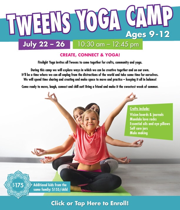 Tweens Yoga Camp
