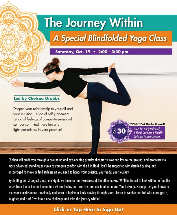 The Journey Within: A Special Blindfolded Yoga Class