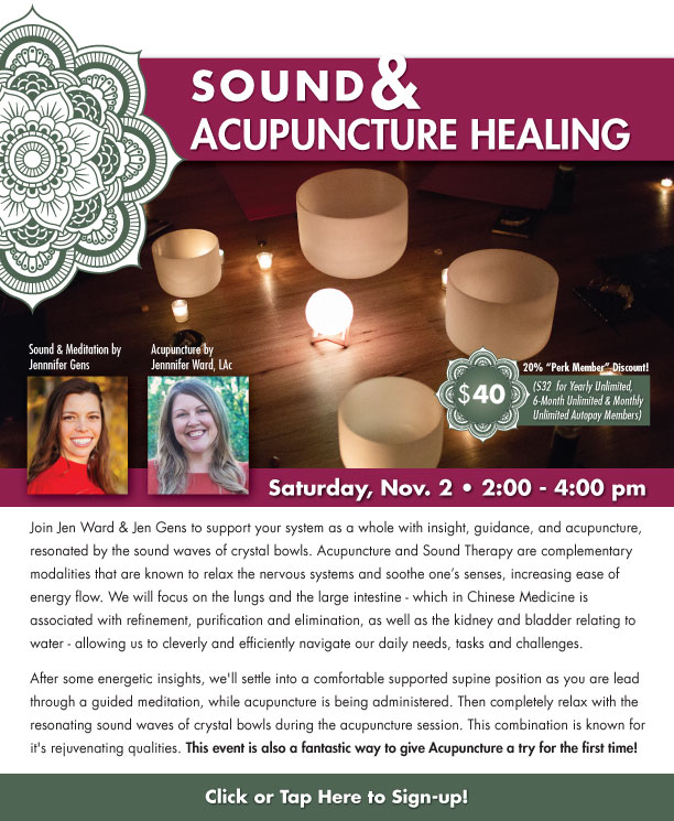 Sound & Acupuncture Healing