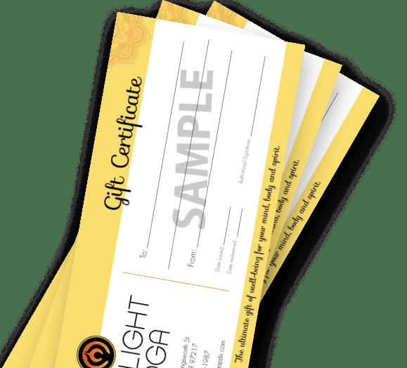 Firelight Yoga Gift Cards